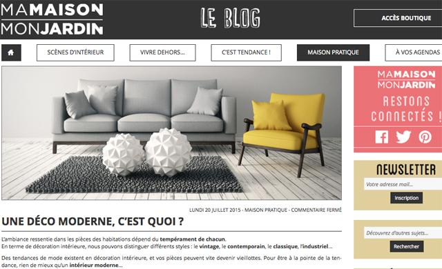 Corps d'un article du blog Ma Maison Mon jardin