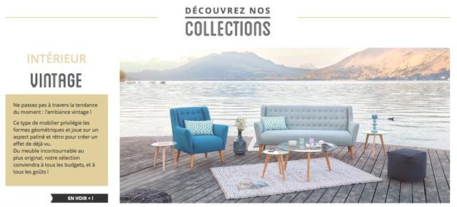 Collection vintage site e-commerce Ma Maison Mon Jardin