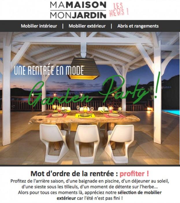 Elaboration newsletter mensuelle pour site e-commerce