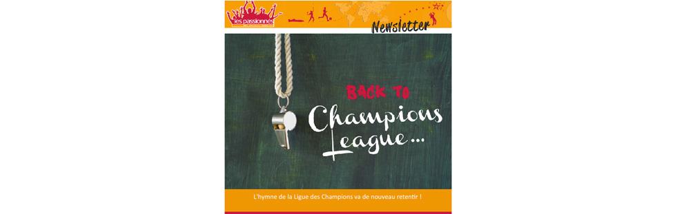 Newsletter Les Passionnes ligue champions