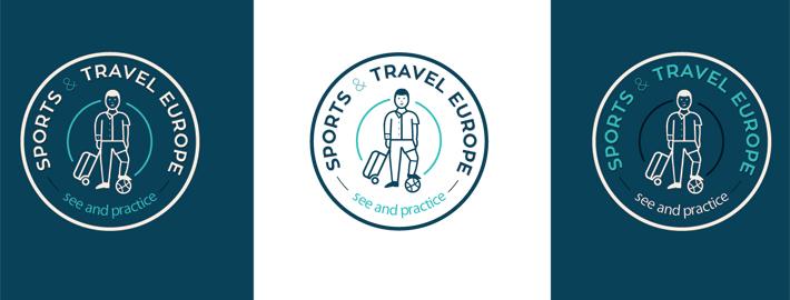 Conception logo pour agence voyage et réceptif dans le sport