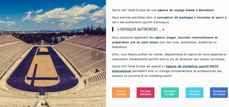 Sport et tourisme, les fondements de l'agence Sports and Travel Europe