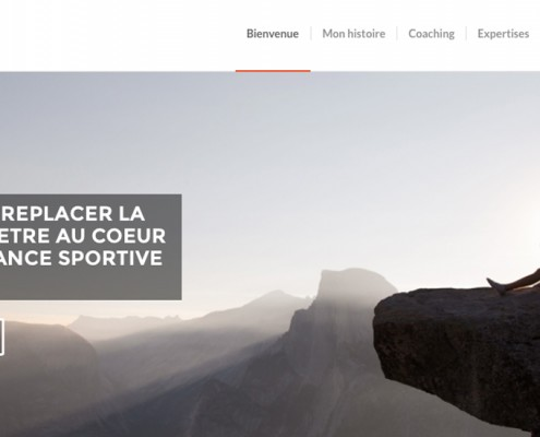 Page d'accueil du site internet de Chrysalide Coaching - Une création Com'On Events
