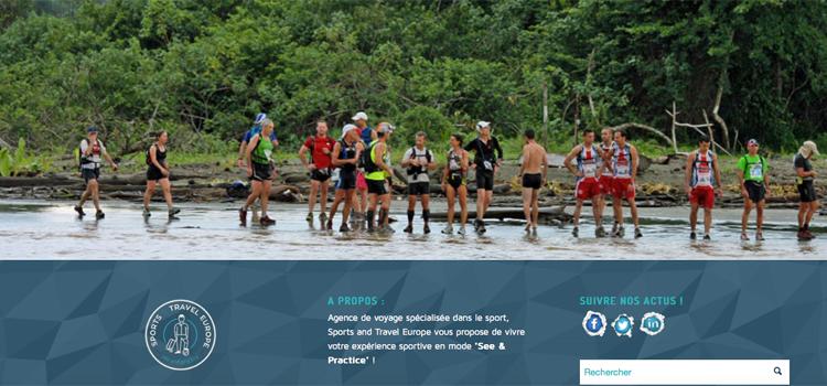 Site internet dédié au sport, au tourisme et au voyage - Com'On Events
