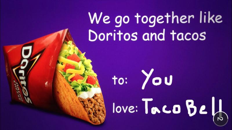Dispositif Snapchat de Taco Bell, chaine de restauration rapide, avec ses doritos