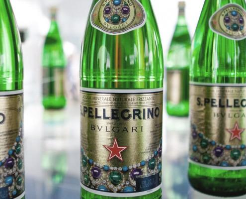 Co branding italien entre la boisson San Pellegrino et le joaillier Bulgari