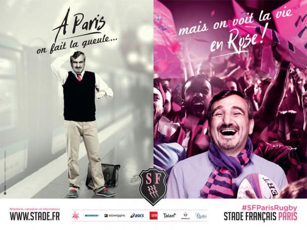 """Campagne de communication du Stade Français """"A Paris on fait la gueule"""""""