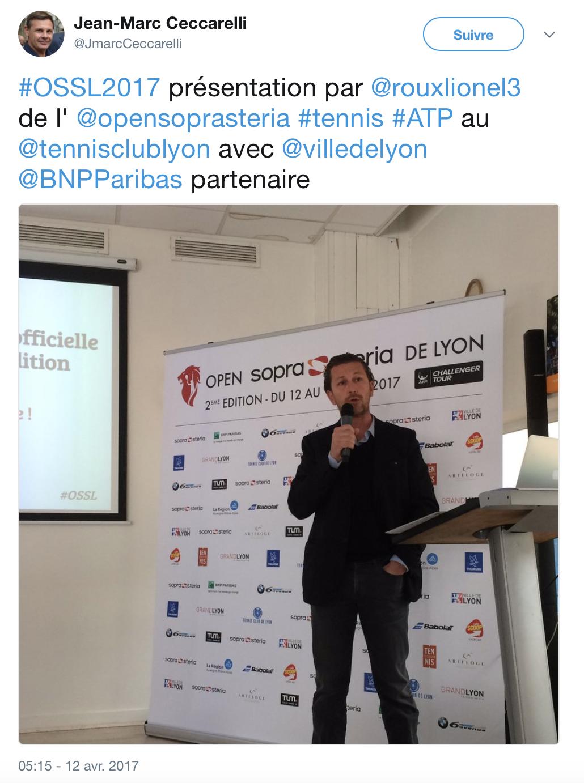 Présentation officielle de l'édition 2017 de l'Open Sopra Steria par Lionel Roux
