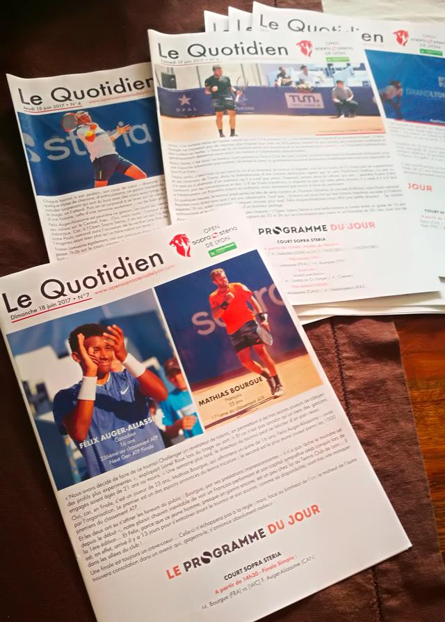 Le Quotidien, 7 numéros sur l'actu de l'Open de Lyon Sopra Steria