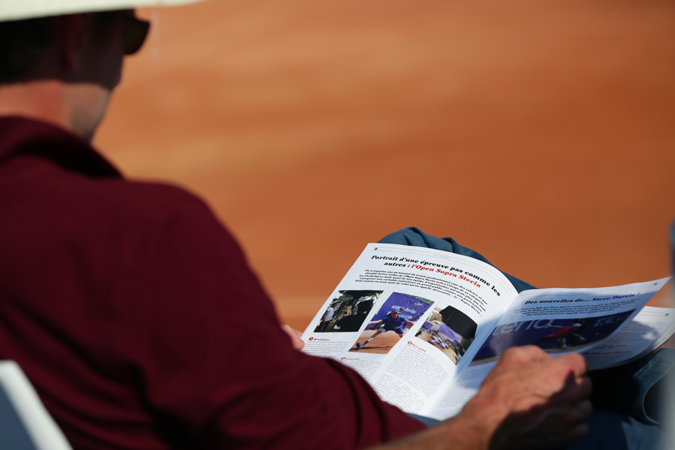 Programme officiel de l'Open Sopra Steria (tournoi ATP Challenger de Lyon) réalisé par Com'On Events !
